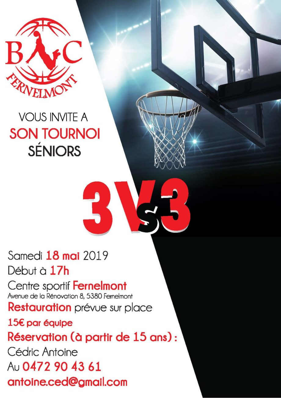 Tournoi 3 VS 3 Séniors – 18 mai 2019