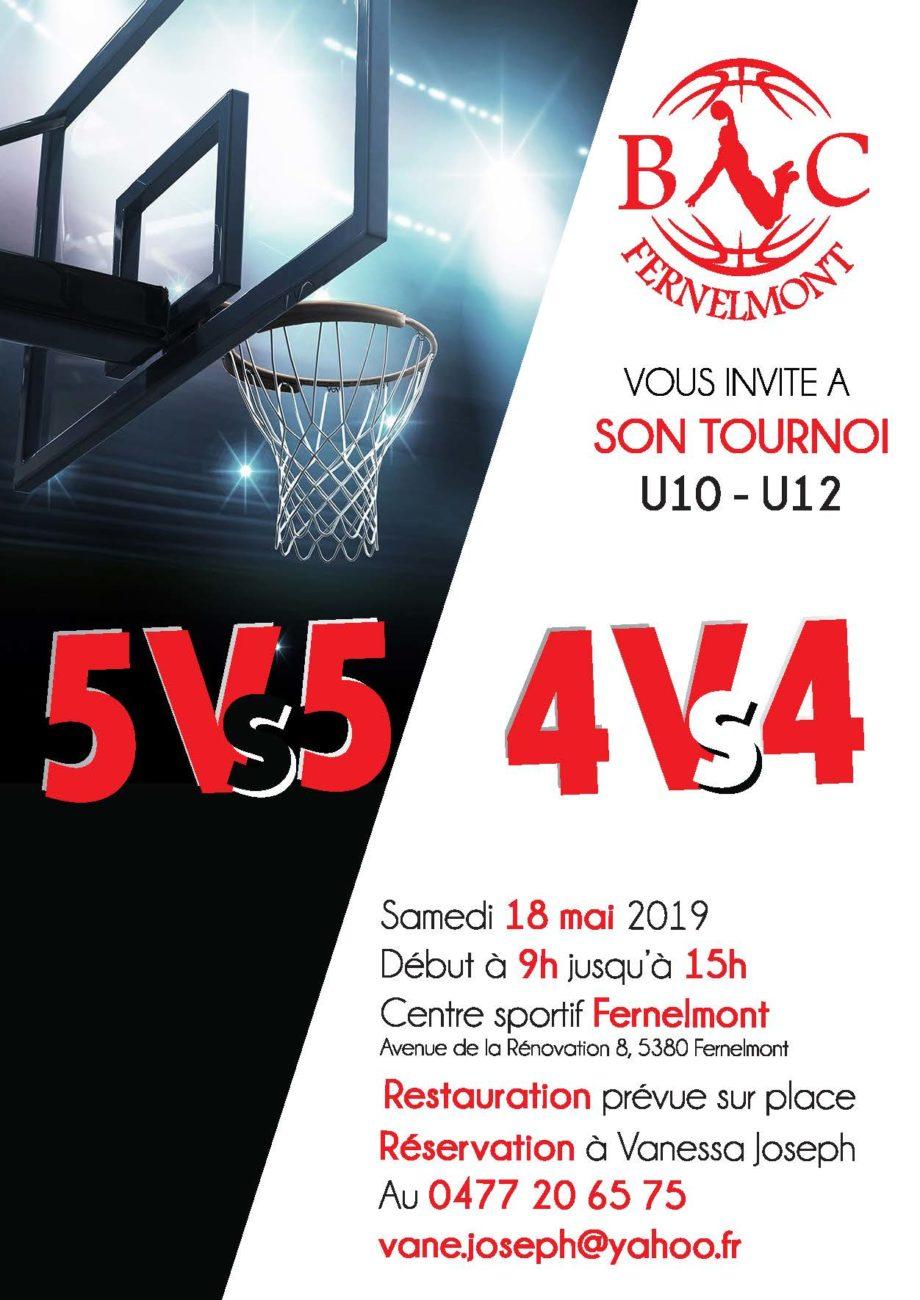 Tournoi U10 – U12 – le 18 mai 2019